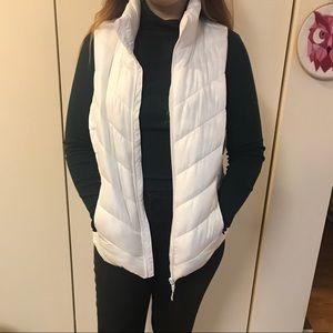 BRAND NEW puffy white vest!